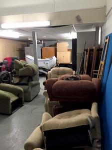 Warehouse space with mezzanine