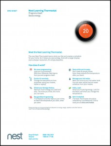 Nest Thermostat Specification