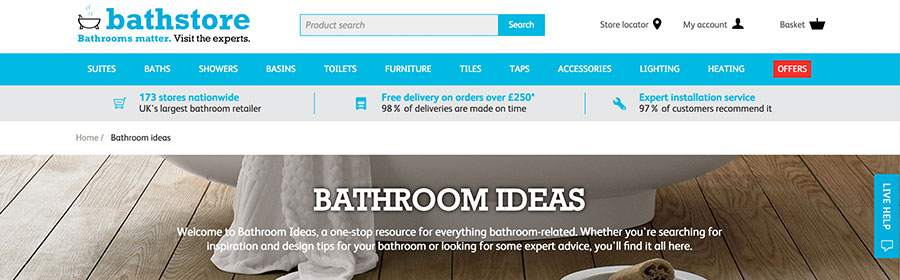 bathroom ideas from the bathstore